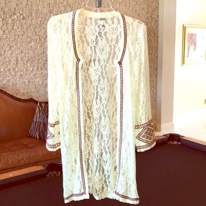 Beautiful Lace and Embroidered Duster